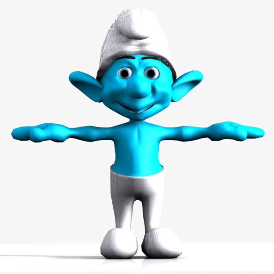 Smurf royalty-free 3d model - Preview no. 1