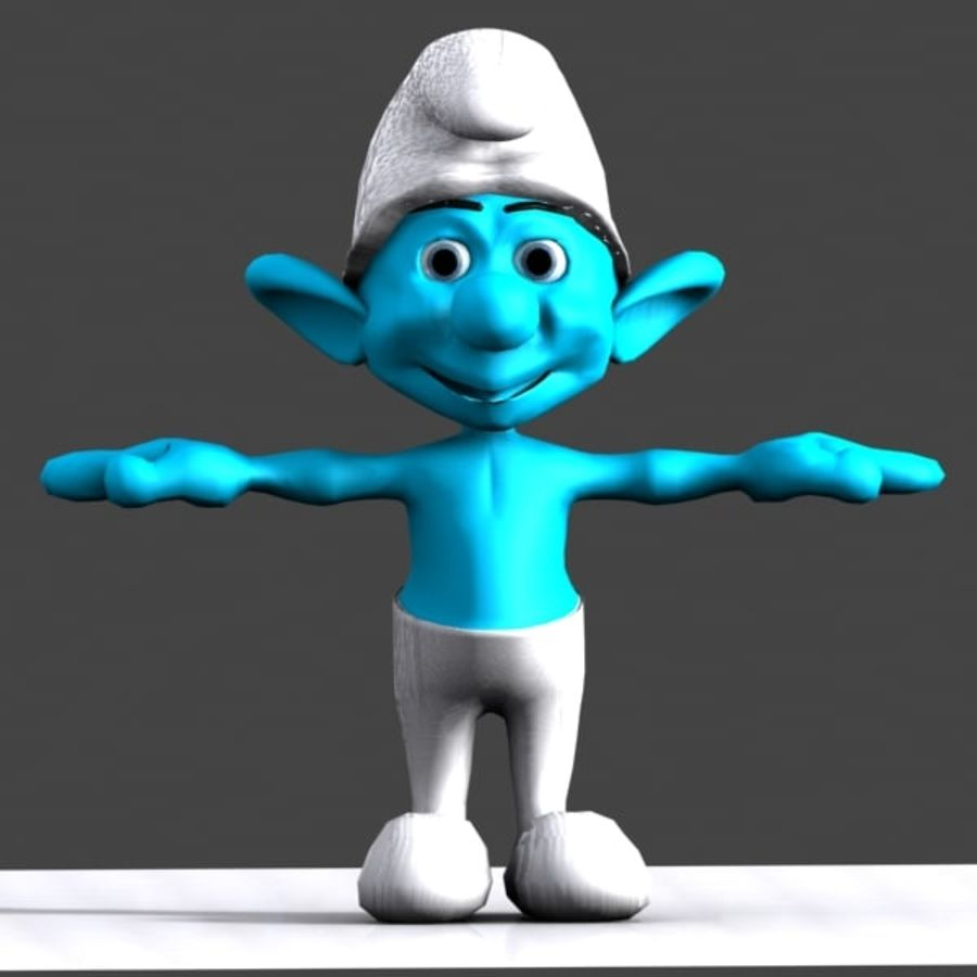 Smurf royalty-free 3d model - Preview no. 2
