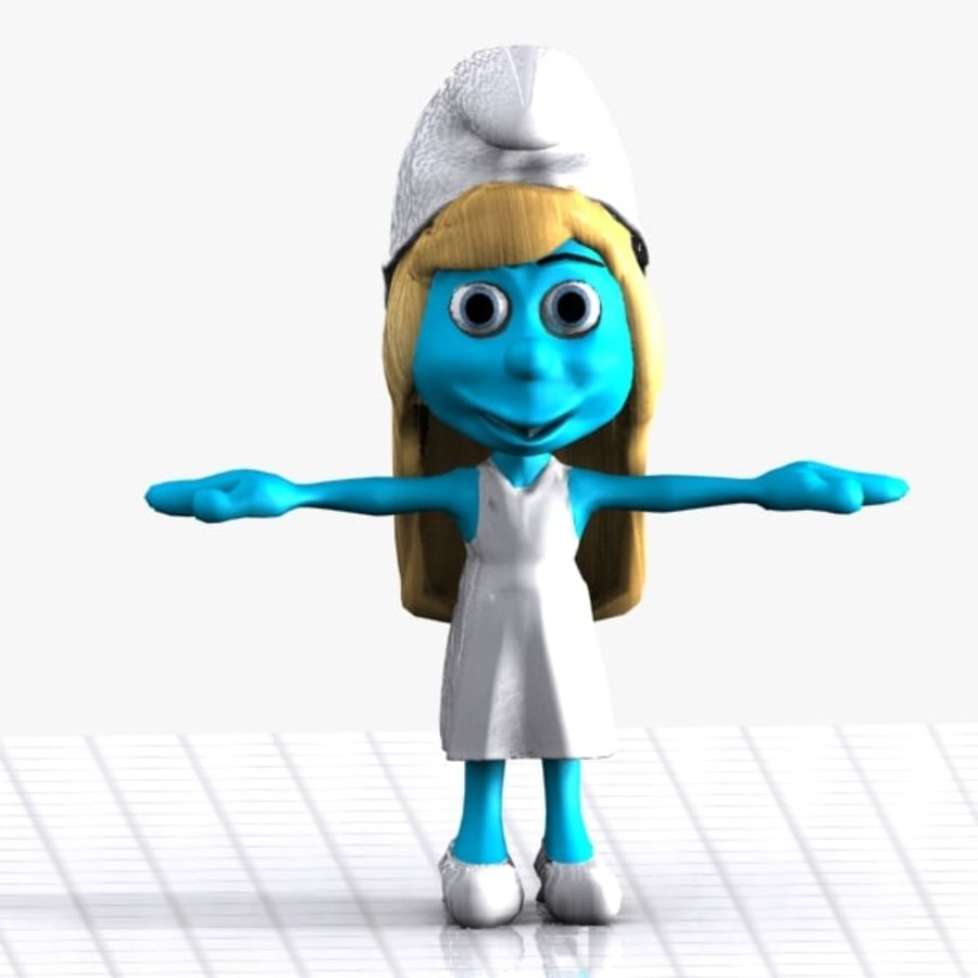Smurfette Smurf royalty-free 3d model - Preview no. 1