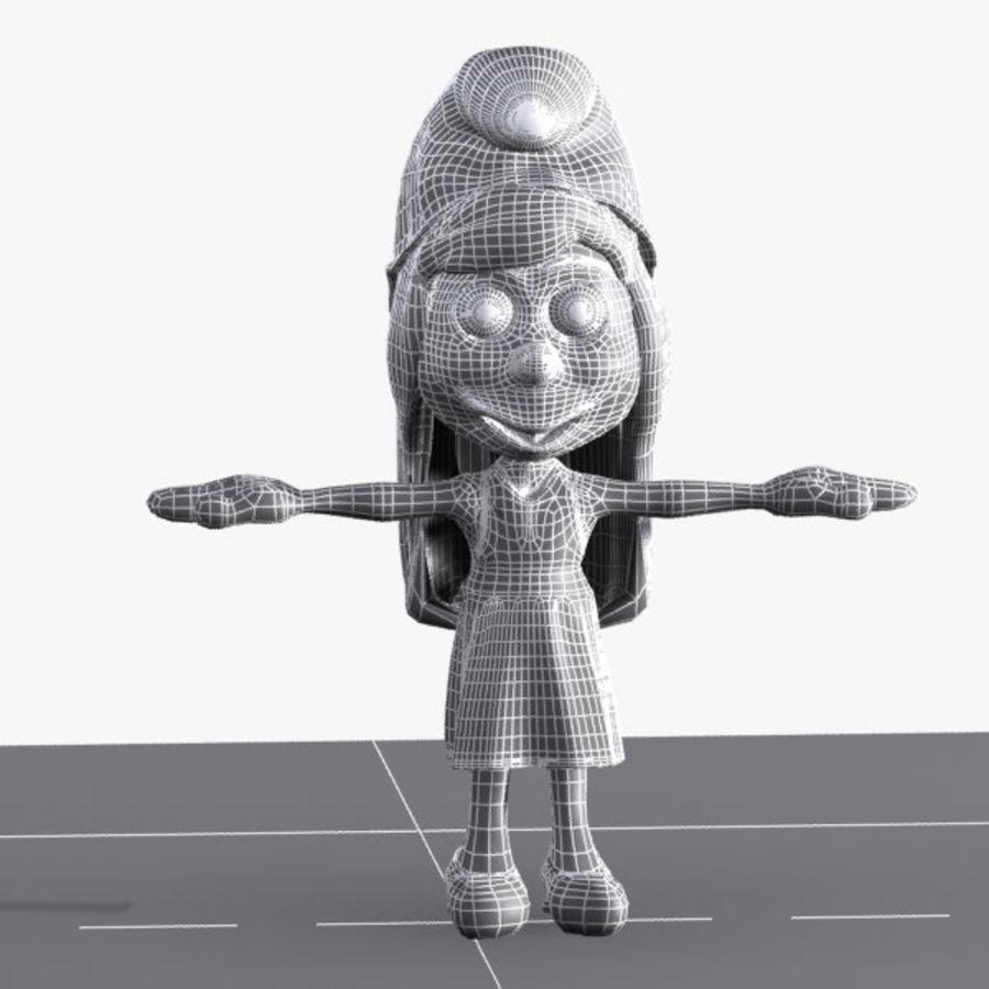 Smurfette Smurf royalty-free 3d model - Preview no. 9
