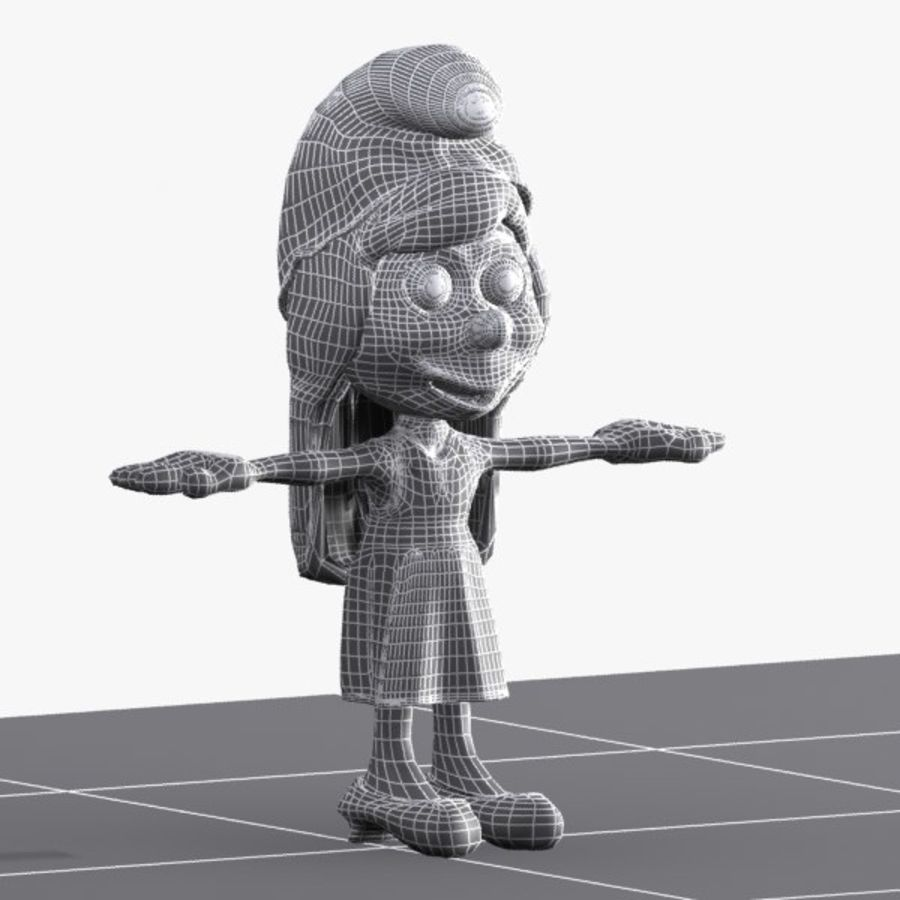 Smurfette Smurf royalty-free 3d model - Preview no. 10