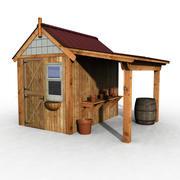 フィールドハウス 3d model