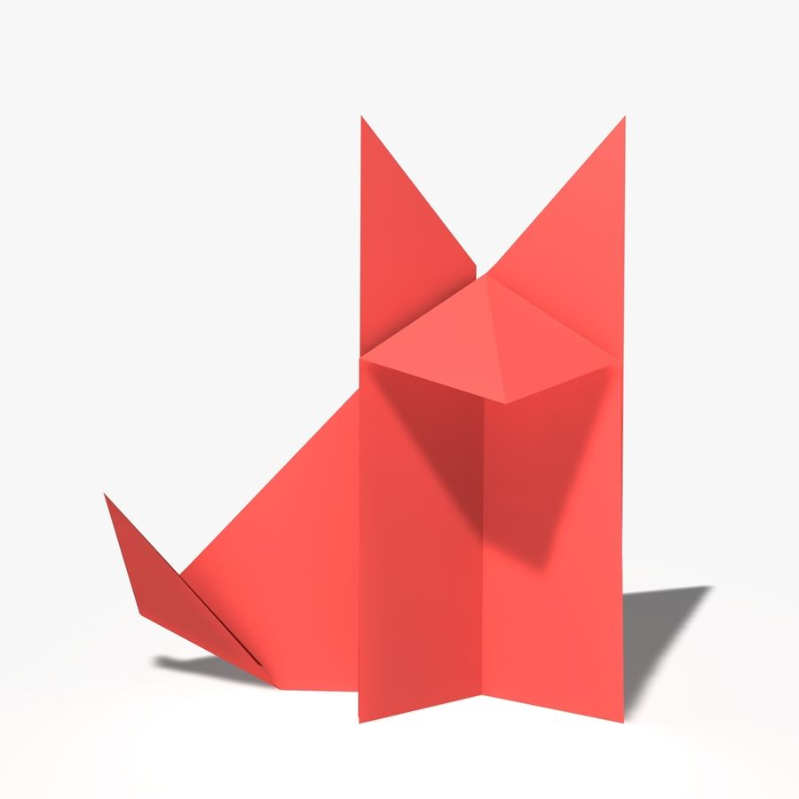 Lis origami royalty-free 3d model - Preview no. 1