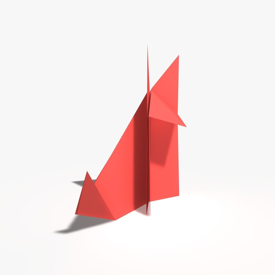 Lis origami royalty-free 3d model - Preview no. 4
