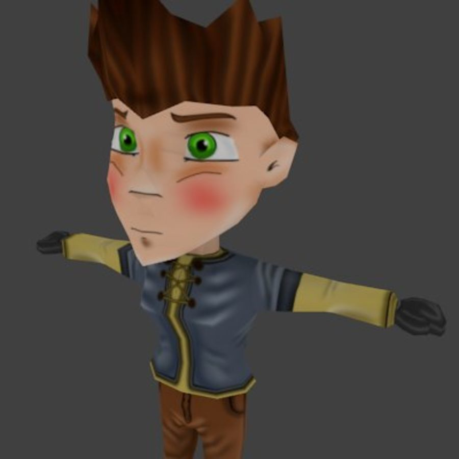 Chibi-Charakter 1 royalty-free 3d model - Preview no. 1