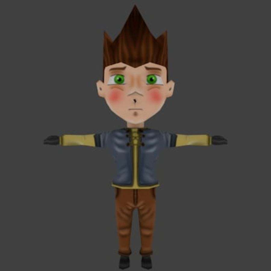 Chibi-Charakter 1 royalty-free 3d model - Preview no. 5