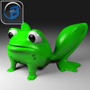 漫画カエル 3d model