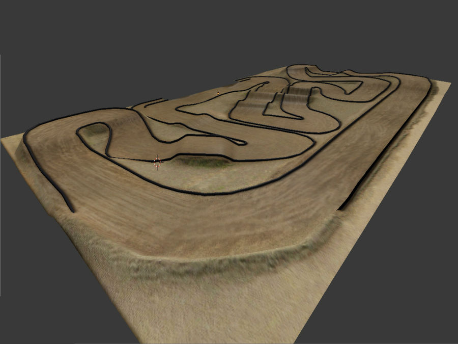 RC Car Race Track royalty-free 3d model - Preview no. 2