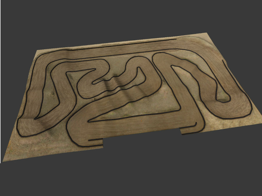 RC Car Race Track royalty-free 3d model - Preview no. 1