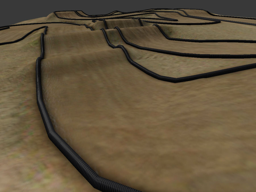 RC Car Race Track royalty-free 3d model - Preview no. 5