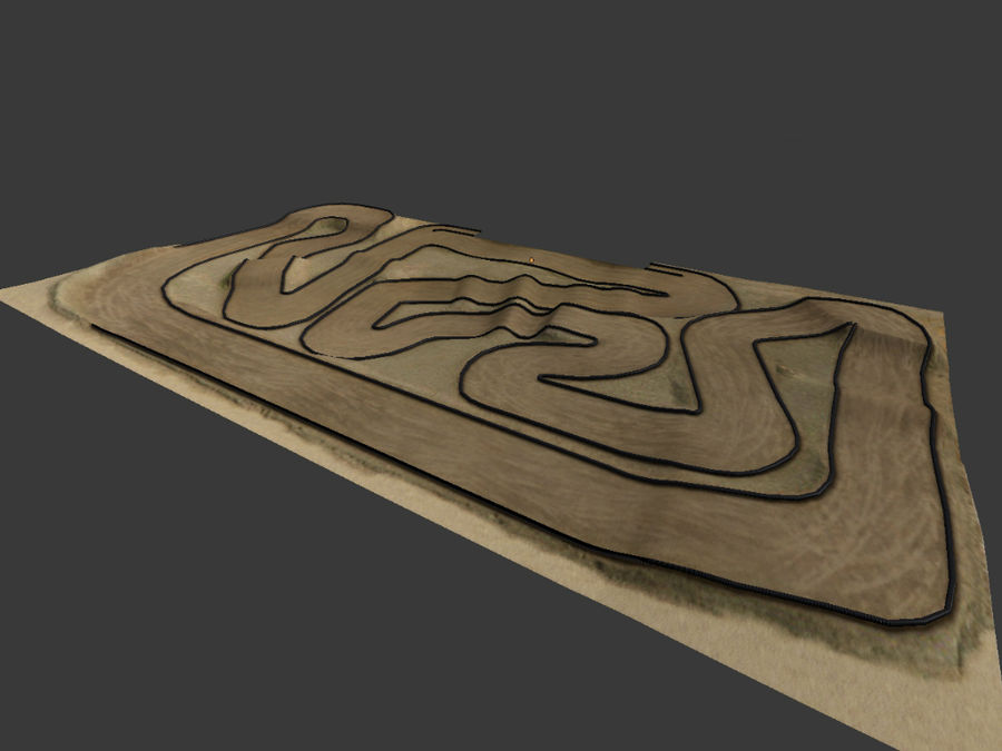 RC Car Race Track royalty-free 3d model - Preview no. 3