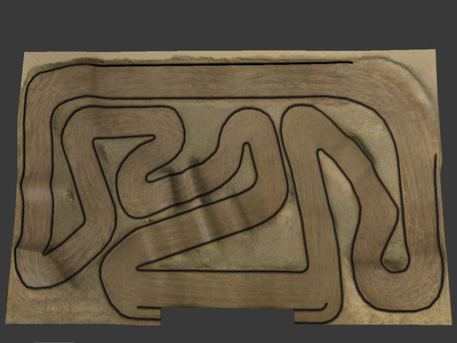 RC Car Race Track royalty-free 3d model - Preview no. 4
