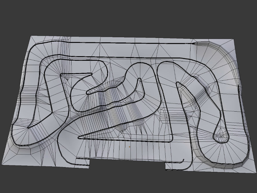 RC Car Race Track royalty-free 3d model - Preview no. 6