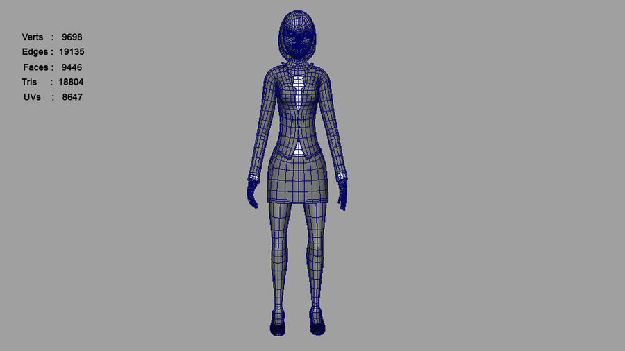 Femme truquée royalty-free 3d model - Preview no. 12