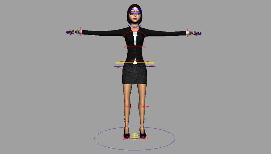 Femme truquée royalty-free 3d model - Preview no. 16