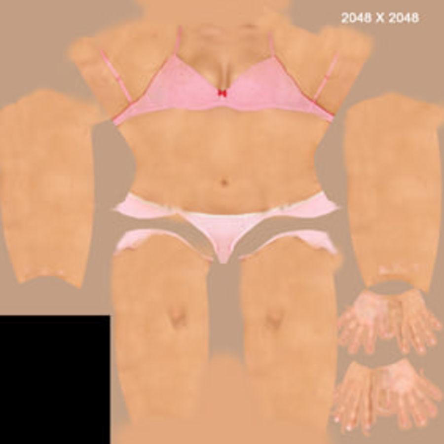 Femme truquée royalty-free 3d model - Preview no. 17