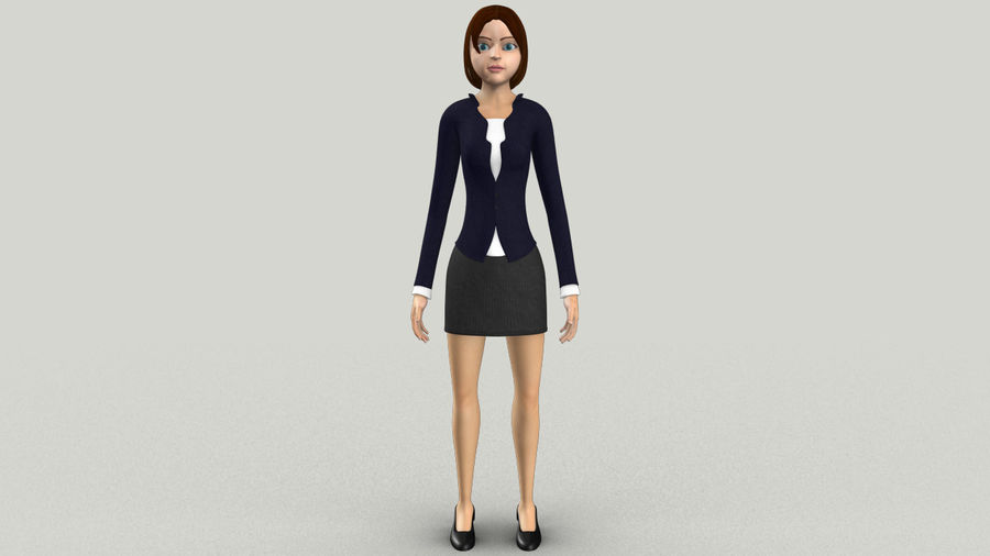 Femme truquée royalty-free 3d model - Preview no. 1