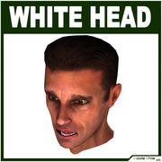 Tête masculine blanche basse poly 3d model