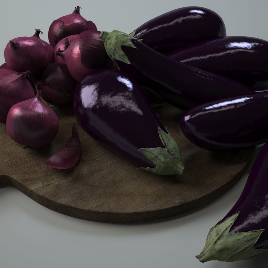 Kitchen Accessories 1 royalty-free 3d model - Preview no. 3