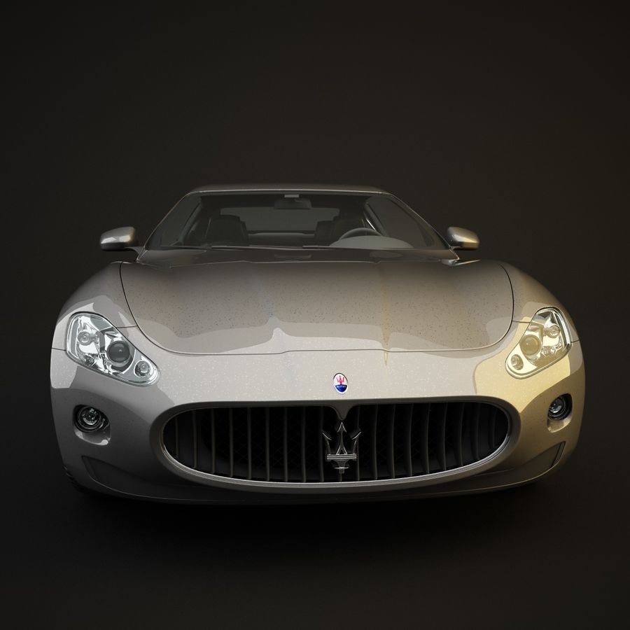 Maserati GT royalty-free 3d model - Preview no. 4