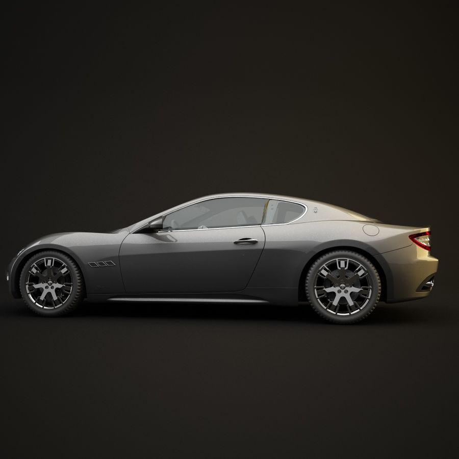 Maserati GT royalty-free 3d model - Preview no. 7