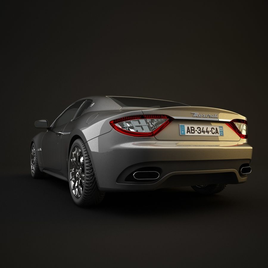 Maserati GT royalty-free 3d model - Preview no. 8