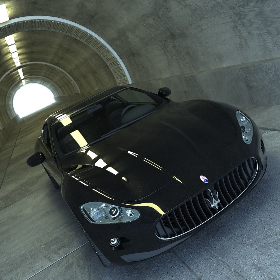 Maserati GT royalty-free 3d model - Preview no. 3