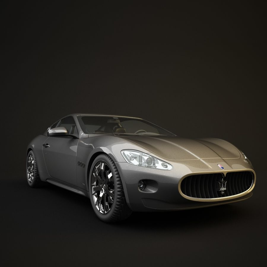 Maserati GT royalty-free 3d model - Preview no. 2
