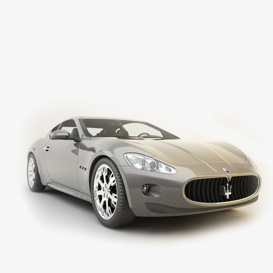 Maserati GT royalty-free 3d model - Preview no. 1