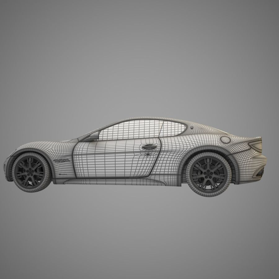 Maserati GT royalty-free 3d model - Preview no. 6