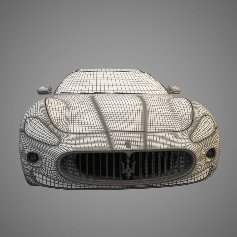 Maserati GT royalty-free 3d model - Preview no. 5
