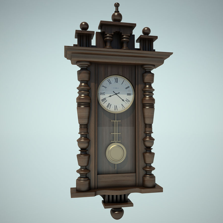 Classical Clock royalty-free 3d model - Preview no. 2