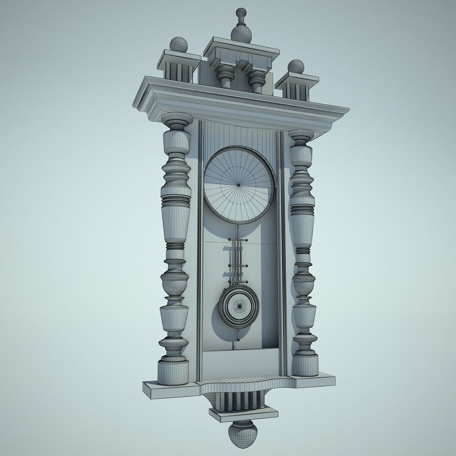 Classical Clock royalty-free 3d model - Preview no. 5
