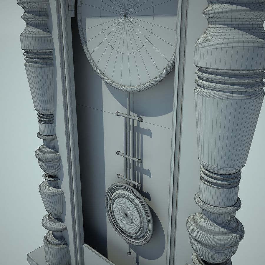 Classical Clock royalty-free 3d model - Preview no. 12