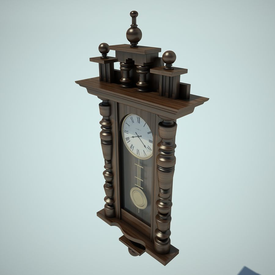 Classical Clock royalty-free 3d model - Preview no. 8