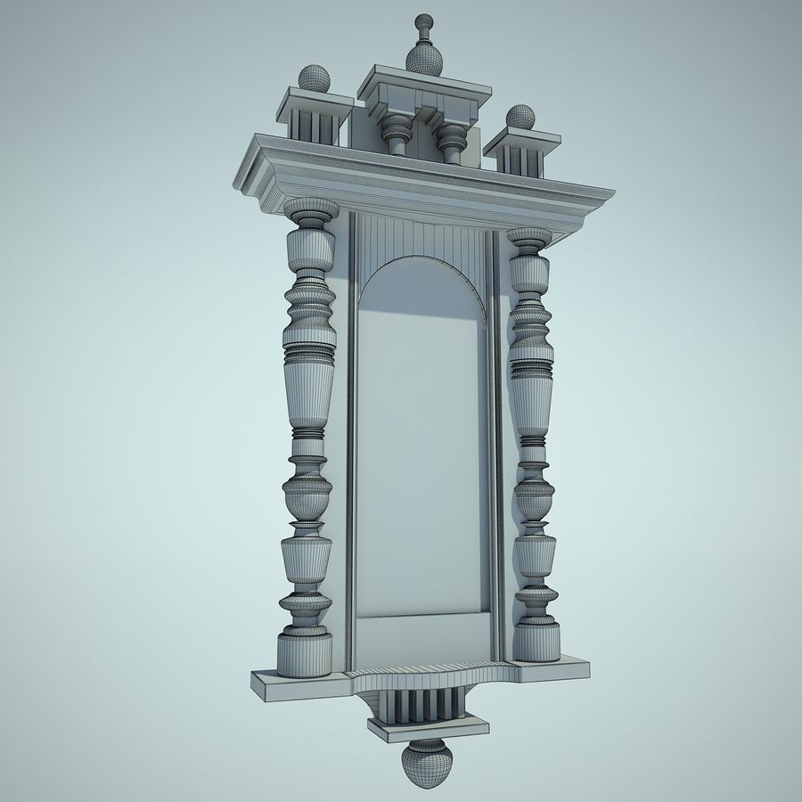 Classical Clock royalty-free 3d model - Preview no. 4