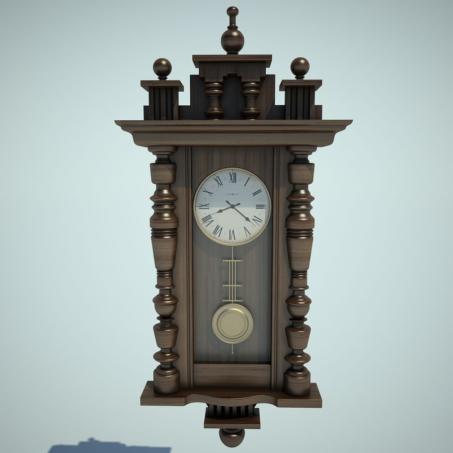 Classical Clock royalty-free 3d model - Preview no. 6
