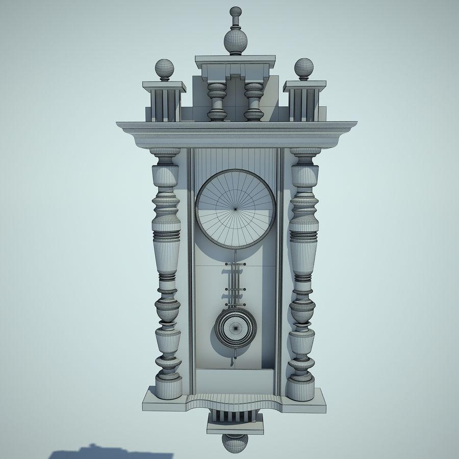 Classical Clock royalty-free 3d model - Preview no. 7