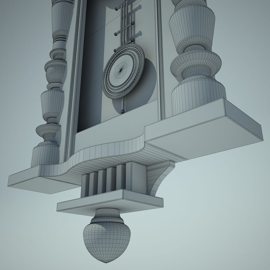Classical Clock royalty-free 3d model - Preview no. 13