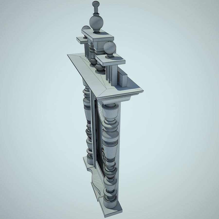 Classical Clock royalty-free 3d model - Preview no. 14