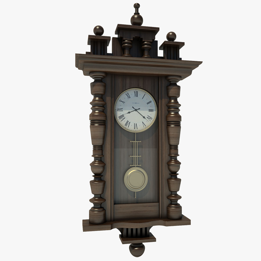 Classical Clock royalty-free 3d model - Preview no. 1