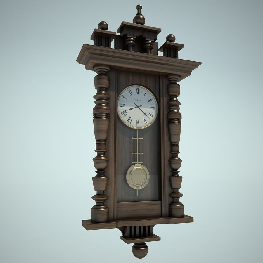 Classical Clock royalty-free 3d model - Preview no. 3