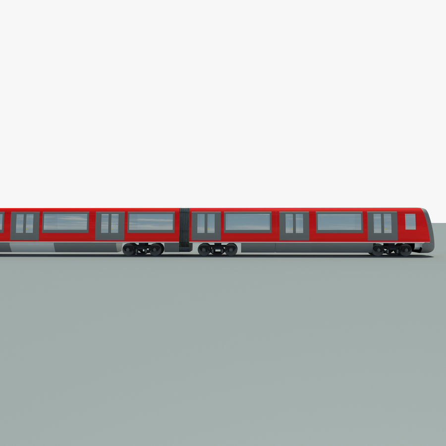 Subway train royalty-free 3d model - Preview no. 3