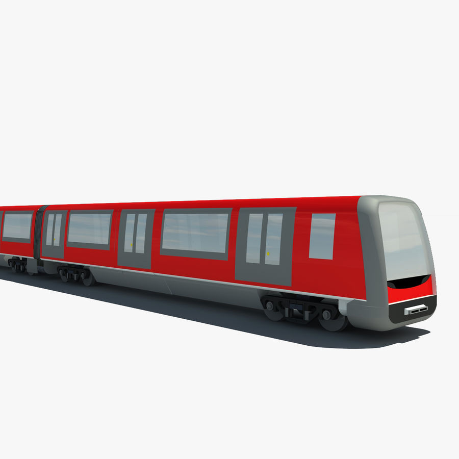 Subway train royalty-free 3d model - Preview no. 1