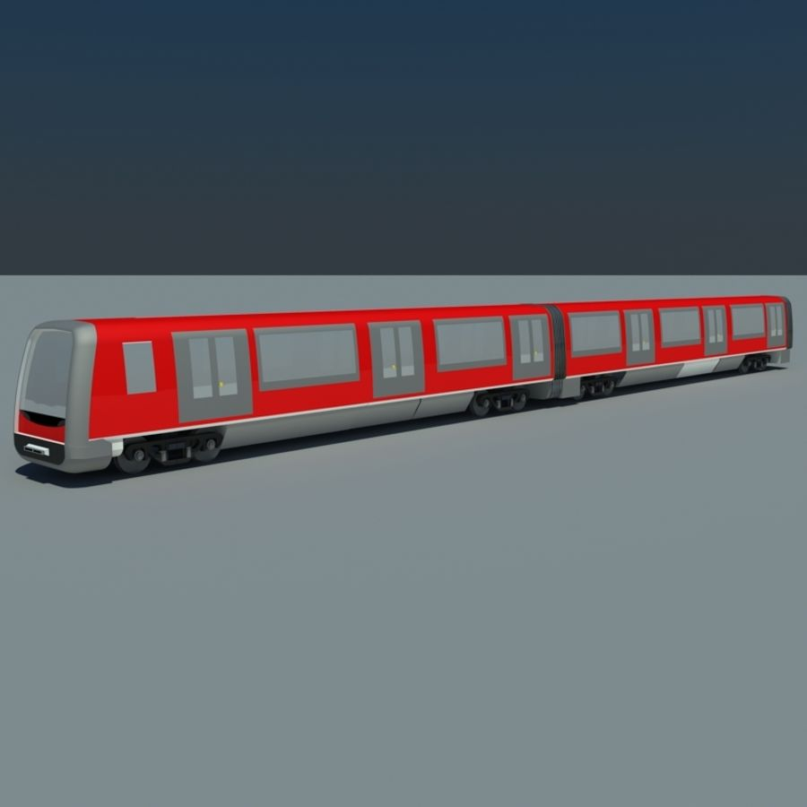 Subway train royalty-free 3d model - Preview no. 4