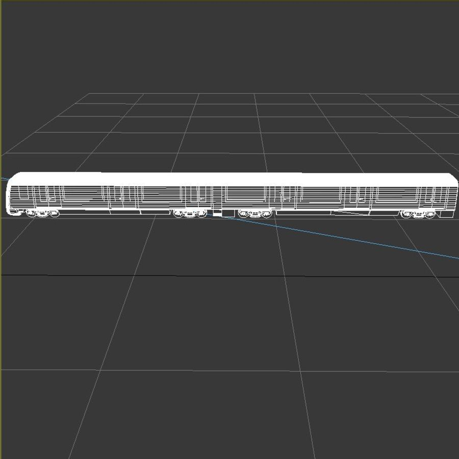 Subway train royalty-free 3d model - Preview no. 6