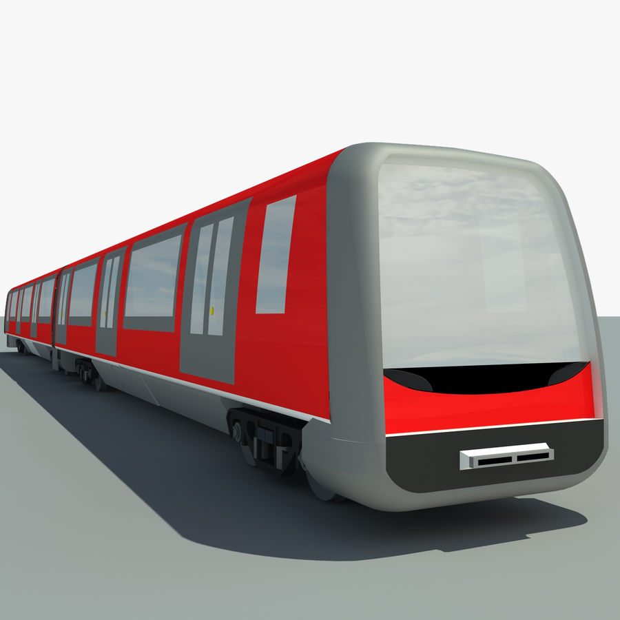 Subway train royalty-free 3d model - Preview no. 2