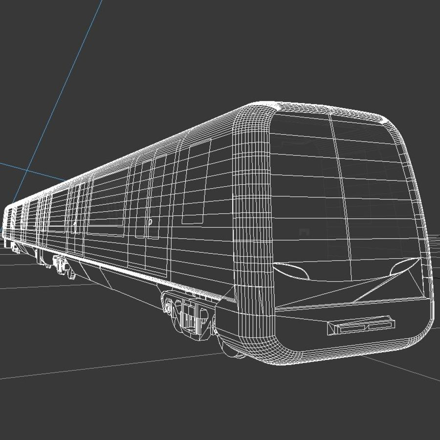 Subway train royalty-free 3d model - Preview no. 5