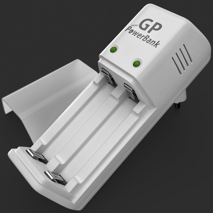 AAA Batteries Charger royalty-free 3d model - Preview no. 11