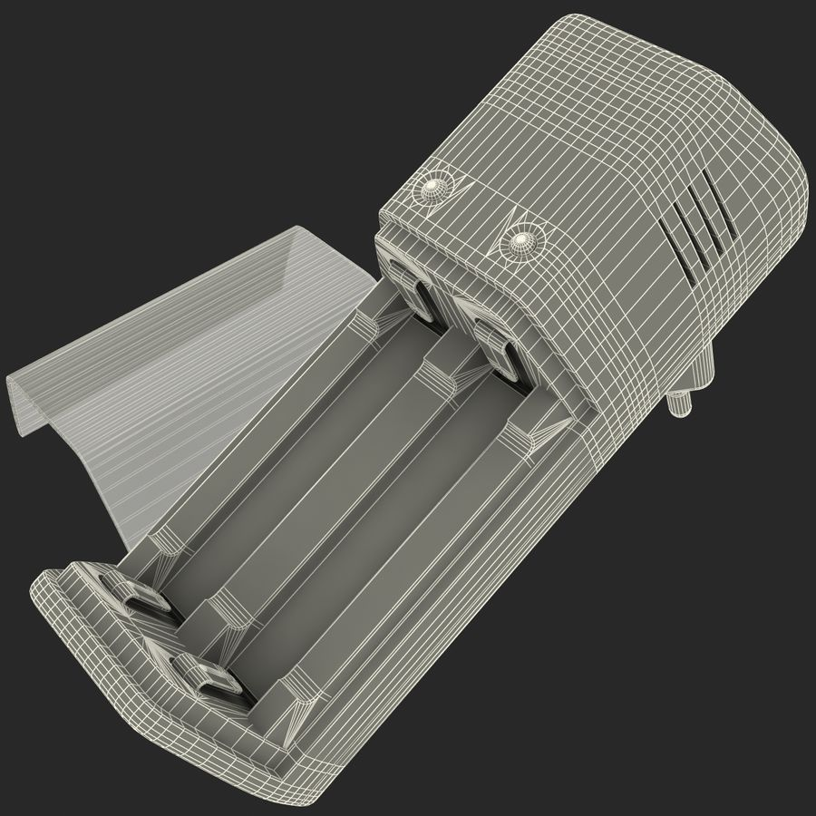 AAA Batteries Charger royalty-free 3d model - Preview no. 21